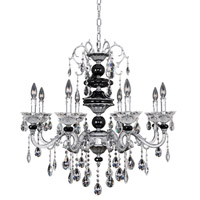 Faure 8 Light 32 inch Chrome Chandelier Ceiling Light in Firenze Clear