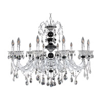 Faure 10 Light 34 inch Chrome Chandelier Ceiling Light in Firenze Clear