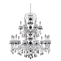 Faure 18 Light 43 inch Chrome Chandelier Ceiling Light in Firenze Clear