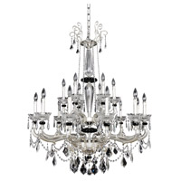 Campra 18 Light 43 inch Two-Tone Silver Chandelier Ceiling Light in Firenze Clear