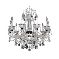 Allegri 024451-017-FR001 Campra 10 Light 34 inch Two-Tone Silver Chandelier Ceiling Light in Firenze Clear