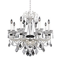 Campra 8 Light 31 inch Two-Tone Silver Chandelier Ceiling Light in Firenze Clear