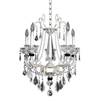 Allegri 024453-017-FR001 Campra 5 Light 23 inch Two-Tone Silver Chandelier Ceiling Light in Firenze Clear photo thumbnail
