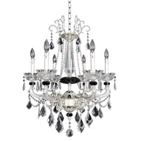 Allegri 024454-017-FR001 Campra 6 Light 23 inch Two-Tone Silver Chandelier Ceiling Light in Firenze Clear