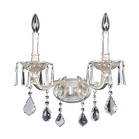Marcello 2 Light Antique Silver Wall Bracket Wall Light in Firenze Clear
