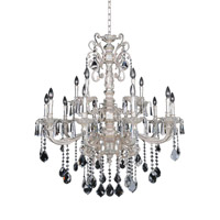 Allegri 024551-005-FR001 Marcello 15 Light 41 inch Antique Silver Chandelier Ceiling Light in Firenze Clear