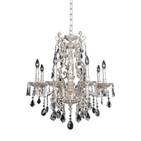 Allegri 024552-005-FR001 Marcello 8 Light 28 inch Antique Silver Chandelier Ceiling Light in Firenze Clear