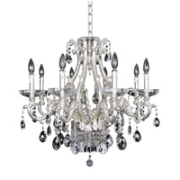 Allegri Rossi 10 Light Chandelier in Two-Tone Silver 024651-017-FR001