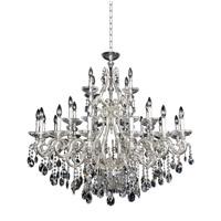 Rossi 30 Light 47 inch Two-Tone Silver Chandelier Ceiling Light in Firenze Clear