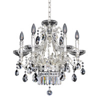 Rossi 6 Light 21 inch Two-Tone Silver Chandelier Ceiling Light in Firenze Clear
