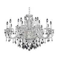 Cassella 18 Light 37 inch Two-Tone Silver Chandelier Ceiling Light in Firenze Clear