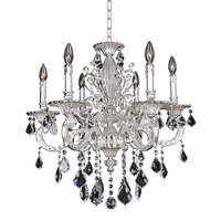Cassella 6 Light 25 inch Two-Tone Silver Chandelier Ceiling Light in Firenze Clear