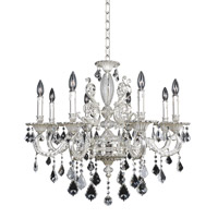 Allegri 024752-017-FR001 Cassella 8 Light 30 inch Two-Tone Silver Chandelier Ceiling Light in Firenze Clear