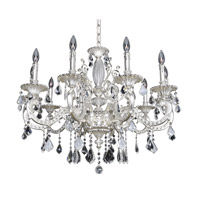 Cassella 10 Light 35 inch Two-Tone Silver Chandelier Ceiling Light in Firenze Clear