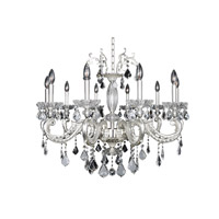 Allegri Casella 10 Light Chandelier in Two-Tone Silver 024754-017-FR001