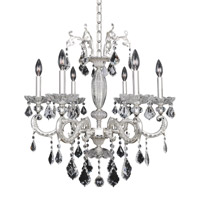Cassella 6 Light 26 inch Two-Tone Silver Chandelier Ceiling Light in Firenze Clear