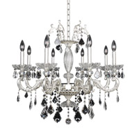Cassella 8 Light 30 inch Two-Tone Silver Chandelier Ceiling Light in Firenze Clear