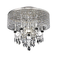 Gabrieli 6 Light 26 inch Two-Tone Silver Flush Mount Ceiling Light