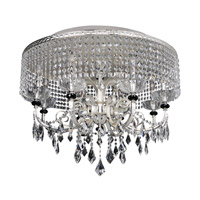 Gabrieli 8 Light 32 inch Two-Tone Silver Flush Mount Ceiling Light