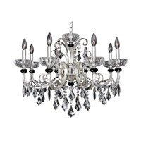 Gabrieli 8 Light 30 inch Two-Tone Silver Chandelier Ceiling Light