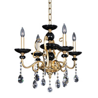 Cimarosa 4 Light 22 inch 24K Two-Tone Gold Chandelier Ceiling Light