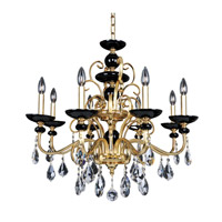 Cimarosa 8 Light 30 inch 24K Two-Tone Gold Chandelier Ceiling Light
