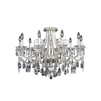 Brunetti 10 Light 35 inch Two-Tone Silver Flush Mount Ceiling Light