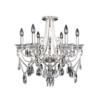 Brunetti 6 Light 25 inch Two-Tone Silver Flush Mount Ceiling Light