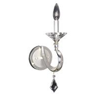 Allegri 025220-017-FR001 Scarlatti 1 Light Two-Tone Silver Wall Bracket Wall Light in Firenze Clear