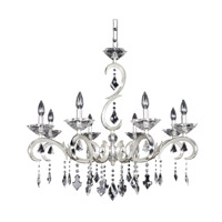 Scarlatti 8 Light 32 inch Two-Tone Silver Chandelier Ceiling Light