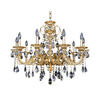 Vivaldi 10 Light 34 inch 24K Two-Tone Gold Chandelier Ceiling Light