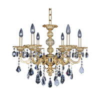 Vivaldi 6 Light 24 inch 24K Two-Tone Gold Chandelier Ceiling Light