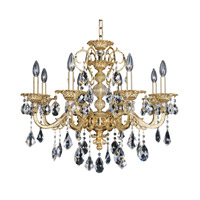 Vivaldi 8 Light 29 inch 24K Two-Tone Gold Chandelier Ceiling Light