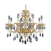 Allegri 025352-016-FR001 Vivaldi 8 Light 29 inch 24K Two-Tone Gold Chandelier Ceiling Light