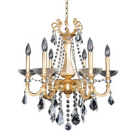 Allegri 025450-011-FR001 Barret 6 Light 23 inch French Gold Chandelier Ceiling Light in Firenze Clear