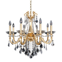 Barret 8 Light 29 inch 24K French Gold Chandelier Ceiling Light in Firenze Clear