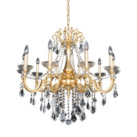 Allegri 025452-011-FR001 Barret 10 Light 35 inch French Gold Chandelier Ceiling Light in Firenze Clear