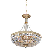 Aulio 8 Light 18 inch Antique Gold Pendant Ceiling Light