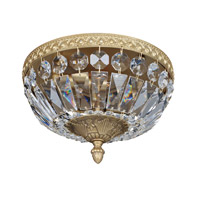 Lemire 2 Light 10 inch Antique Gold Flush Mount Ceiling Light