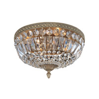 Allegri Lemire 4 Light Flush Mount in Antique Gold 025941-031-FR001