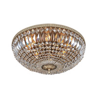 Lemire 8 Light 24 inch Antique Gold Flush Mount Ceiling Light