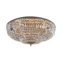 Lemire 14 Light 36 inch Antique Gold Flush Mount Ceiling Light