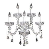 Allegri 026023-010-FR001 Clovio 5 Light 21 inch Chrome Wall Sconce Wall Light