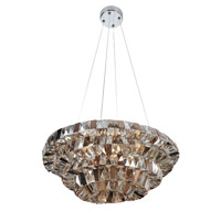 Gehry 8 Light 24 inch Chrome Pendant Ceiling Light