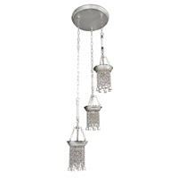Allegri Clare 3 Light Pendant in Two-Tone Silver 026640-017-FR001
