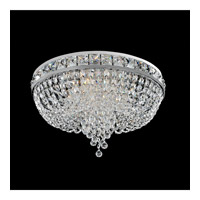 Cascata 4 Light 18 inch Chrome Flush Mount Ceiling Light