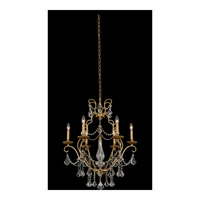Allegri 027470-047-FR001 Elise 6 Light 26 inch Gold Patina Chandelier Ceiling Light