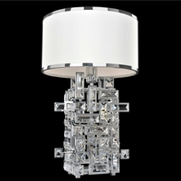 Allegri 027600-010-FR001 Vermeer 60 watt Chrome Table Lamp Portable Light in Firenze Clear