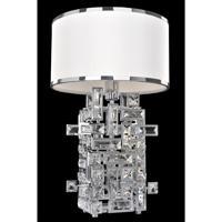 Allegri 027600-010-SE001 Vermeer 60 watt Chrome Table Lamp Portable Light in Swarovski Elements Clear