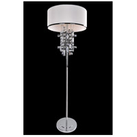 Allegri 027601-010-SE001 Vermeer 60 watt Chrome Floor Lamp Portable Light in Swarovski Elements Clear